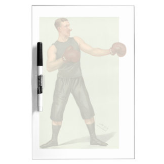 Vintage Boxer with Long Green Trunks Dry Erase Board