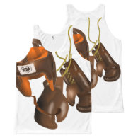 Vintage Boxing Gloves and Helmet All-Over Print Tank Top