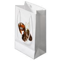 Vintage Boxing Gloves and Helmet Small Gift Bag