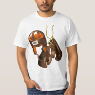 Vintage Boxing Gloves and Helmet T-Shirt