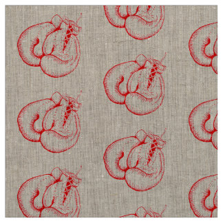 "VINTAGE BOXING GLOVES Natural Linen (54"" width) Fabric"