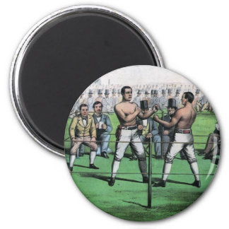 Vintage Boxing; Great Fight for the Championship 2 Inch Round Magnet