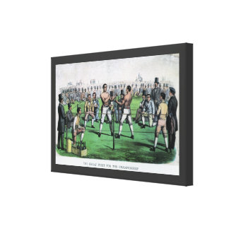 Vintage Boxing; Great Fight for the Championship Canvas Print