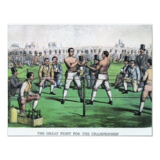 Vintage Boxing, Great Fight for the Championship Card