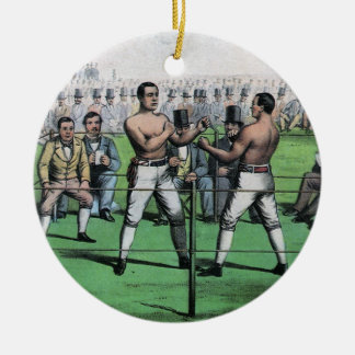 Vintage Boxing, Great Fight for the Championship Ceramic Ornament