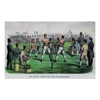 Vintage Boxing; Great Fight for the Championship Poster