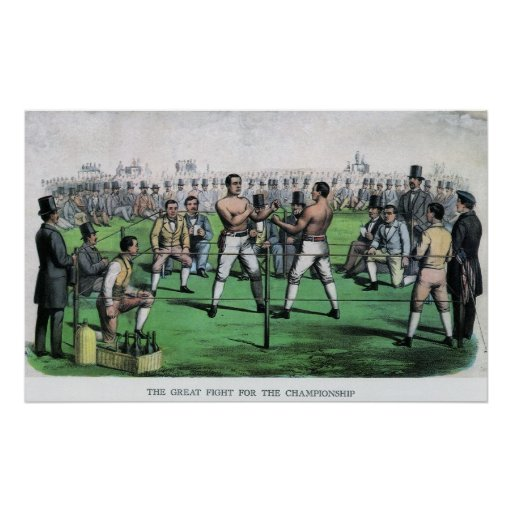 Vintage Boxing, Great Fight for the Championship Poster