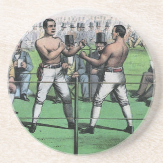 Vintage Boxing; Great Fight for the Championship Sandstone Coaster
