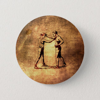 Vintage boxing men button