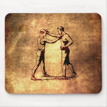 boxer, vintage, men's, boxing, funny, sport, retro, pattern, cool, old boxing pictures, fun, retro boxers, antique, old boxer, mousepad, Mouse pad com design gráfico personalizado