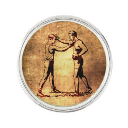 Vintage boxing men pin