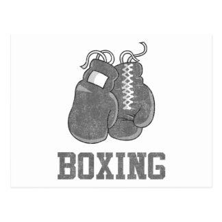 Vintage Boxing Postcard