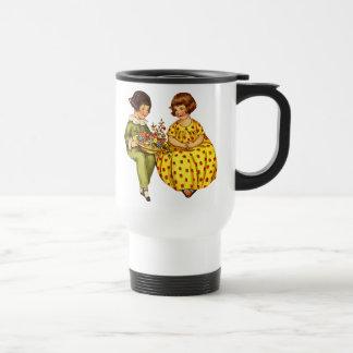 Vintage Boy and Girl Travel Mug