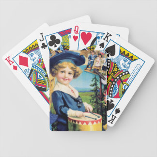 Vintage Boy Drum Child Bicycle Playing Cards