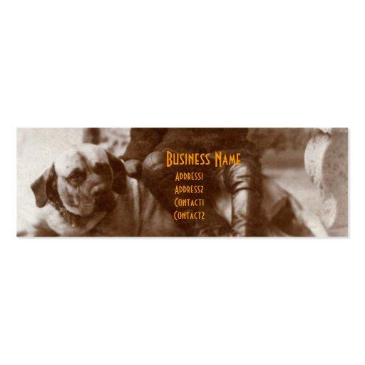 Vintage Boy on Hound Dog Bookmark Business Cards