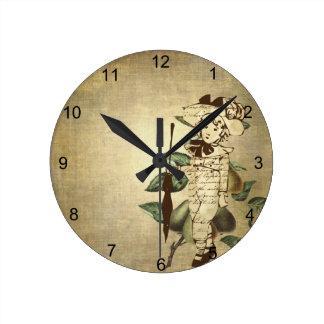 Vintage Boy Round Clock