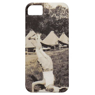 Vintage Boy Scout Hand Stand iPhone5 Case
