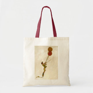 Vintage Boy with Red Balloons at a Birthday Party Tote Bag