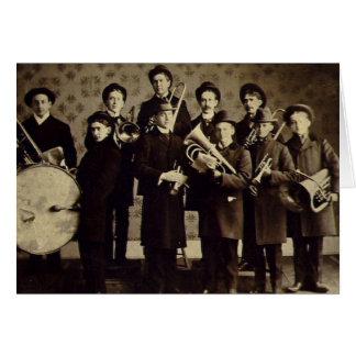 Vintage Boys Brass Band Warsaw Indiana Card