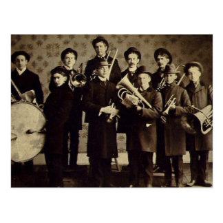 Vintage Boys Brass Band Warsaw Indiana Postcard
