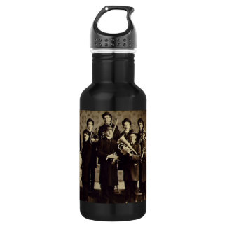 Vintage Boys Brass Band Warsaw Indiana Stainless Steel Water Bottle