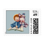 Vintage Boys First Birthday Small Postage