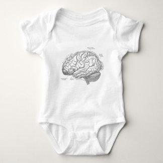 Vintage Brain Anatomy Baby Bodysuit
