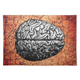 VINTAGE BRAIN DRAWING CLOTH PLACEMAT