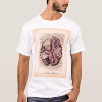 Vintage Brain Medical Illustration T-Shirt