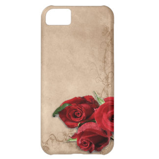 Vintage Brandy Rose Cover For iPhone 5C