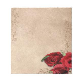 Vintage Brandy Rose Notepad