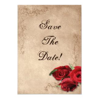 Vintage Brandy Rose Save The Date Card