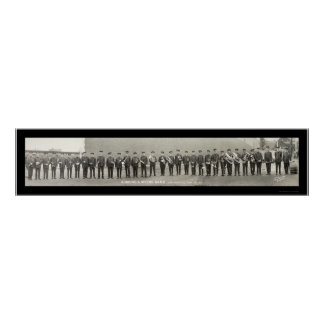 Vintage Brass Band OH Photo 1917 Poster
