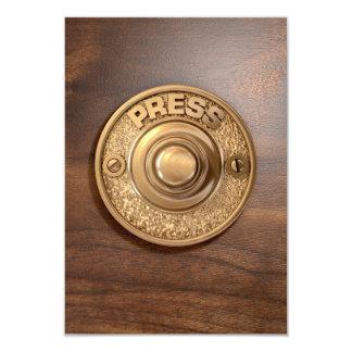 Vintage Brass Doorbell Card