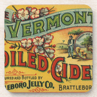 Vintage Brattleboro Jelly Boiled Cider Vermont Coaster