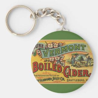 Vintage Brattleboro Jelly Boiled Cider Vermont Keychain