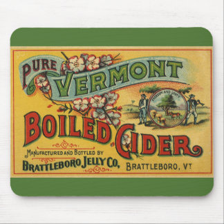 Vintage Brattleboro Jelly Boiled Cider Vermont Mouse Pad