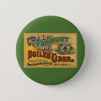 Vintage Brattleboro Jelly Boiled Cider Vermont Pinback Button
