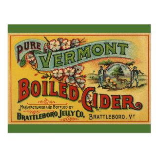 Vintage Brattleboro Jelly Boiled Cider Vermont Postcard