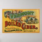 Vintage Brattleboro Jelly Boiled Cider Vermont Poster