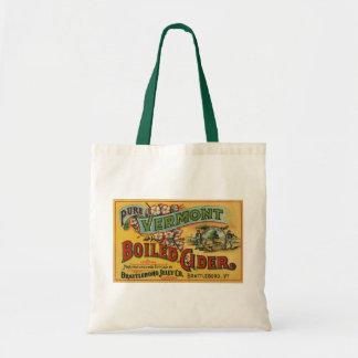 Vintage Brattleboro Jelly Boiled Cider Vermont Tote Bag
