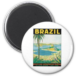 Vintage Brazil 2 Inch Round Magnet