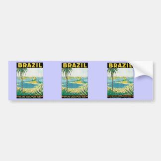 Vintage Brazil Bumper Sticker