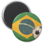 Vintage Brazil Flag 2 Inch Round Magnet
