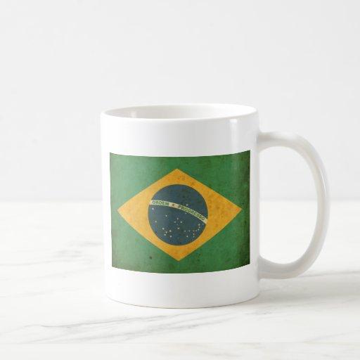 Vintage Brazil Flag Coffee Mug