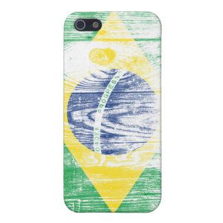 Vintage Brazil Flag Nacional 5 Case iPhone lasas iPhone 5 Fundas