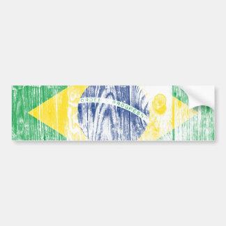 Vintage Brazil Flag Nacional Bumper bordadora Pegatina De Parachoque