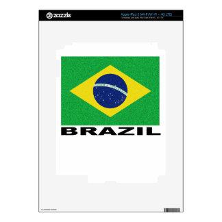 Vintage Brazil Flag Shirts.png Skin For iPad 3