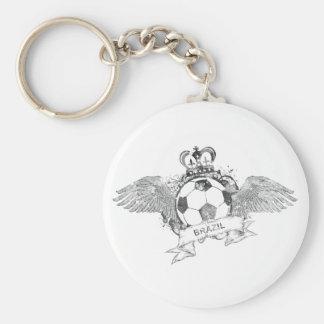 Vintage Brazil Football Keychain
