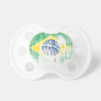 Vintage Brazil national flag White Pacifier